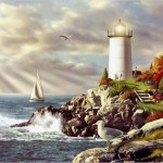 Paintings Lighthouses Lighthouse Painting Beautiful