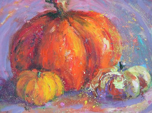 Paintings More Fairy Tales Acrylic Still Life Pumpkins