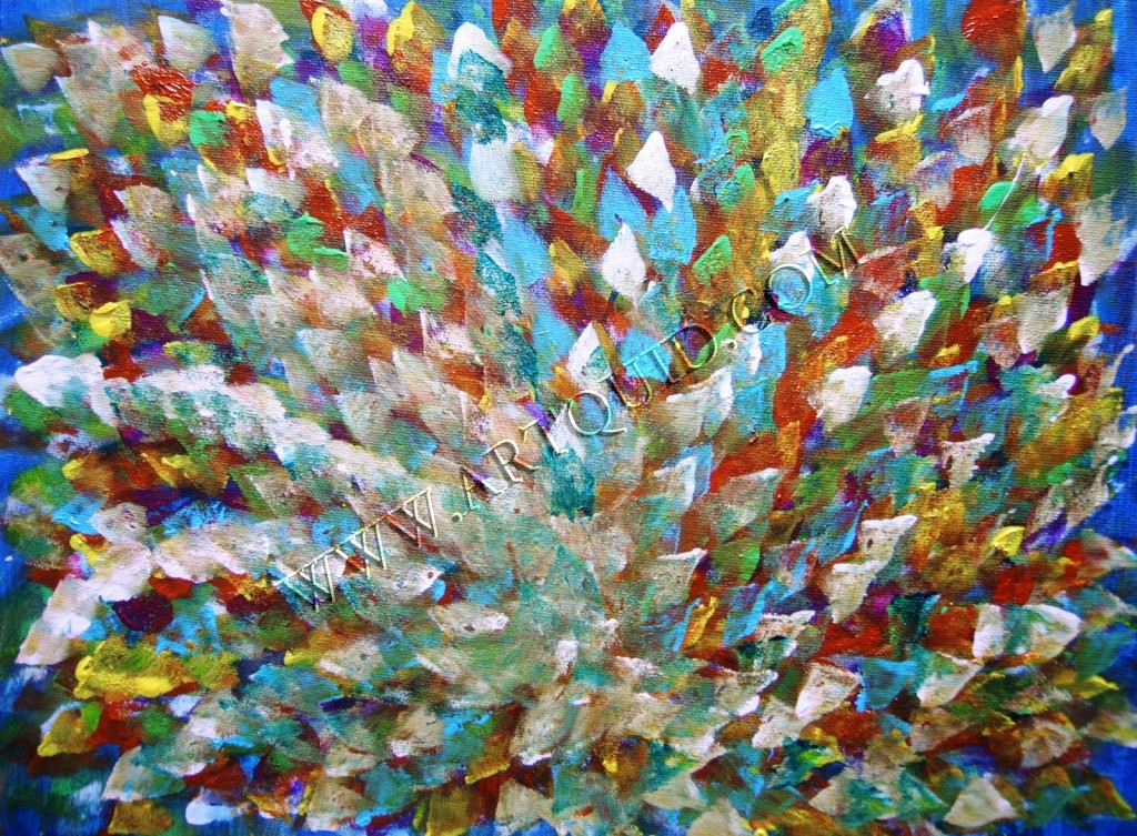 Paintings Peacock Flower Page Contemporary Art