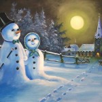 Paintings Prints Holidays Occasions Christmas Snowman