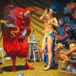 Paintings Robert Williams The Pavillion Red Clown Painting