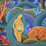 Paintings This Spiritual Painting Depiction The Earth Goddess