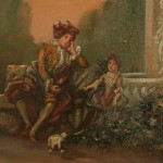 Pair French Antique Oil Paintings For Sale Old Plank
