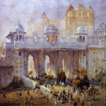 Palace Gate Udaipur India Painting Acolin Campbell Cooper Paintings
