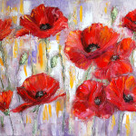 Palette Knife Painting Oil Canvas