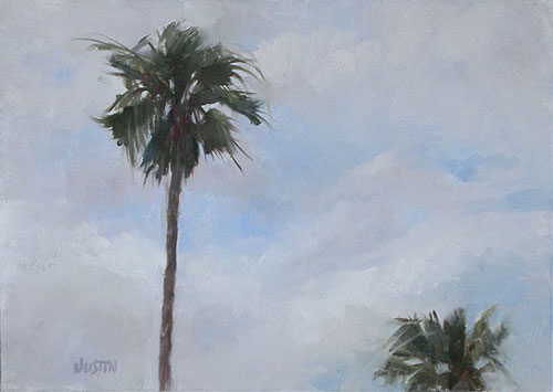 Palm Trees Original Oil Painting