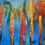 Palms Abstract Painting Bob Brown