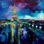 Parisian Night Aja From Paris Art Exhibit