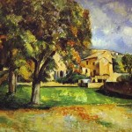 Paul Cezanne Trees Park Painting