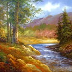 Peaceful Nature Oil Painting Tidebuy