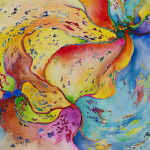 Pear Abstract Painting James Bagley Fine Art