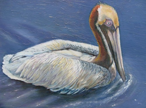 Peppy Pelican Painting Theresa Blosser Fine Art