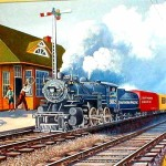 Phifier Painting The Kosse Train Station Curtesy James Allen