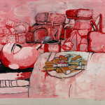 Philip Guston Painting Smoking Eating Oil Canvas