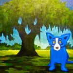 Pictured Blue Dog Oak George Rodrigue Inches