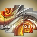 Piece Wall Art Canvas Hand Painted Oil Painting Large Cheap