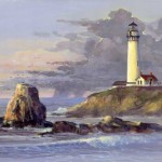 Pigeon Point Lighthouse Print California Original Painting Available