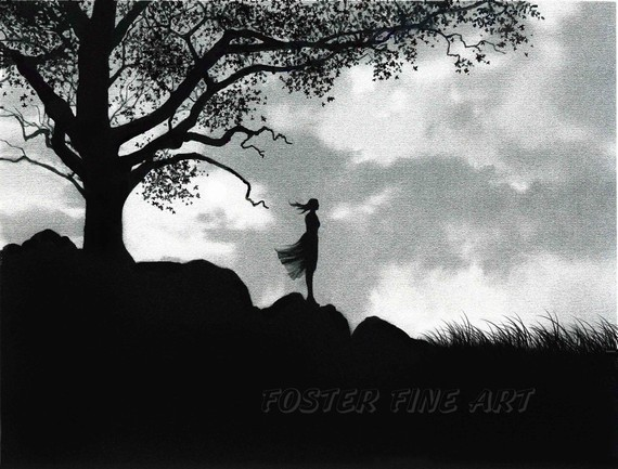 Pink Lady Designs Black And White Paintings Robert Foster