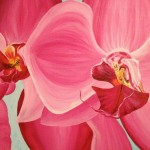 Pink Orchid Painting Love Allyn