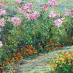 Pink Peonies Monet Garden Paintings Marlena Lyn Chumo