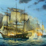 Pirate Ship Attack Painting