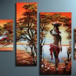 Polyptychs African Paintings Canvases