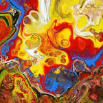 Portfolio Acrylic Chemical Reaction Abstract Painting