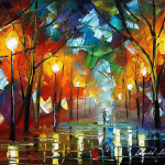 Portfolio Colder Day Original Art Oil Painting Leonid Afremov