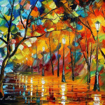 Portfolio Frozen Love Original Art Oil Painting Leonid Afremov