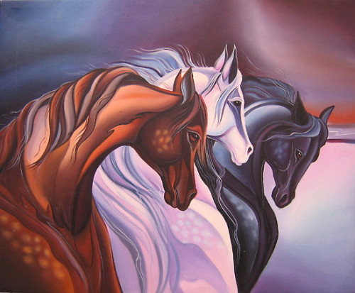 Portfolio Horse Painting Handwork Oil Canvas