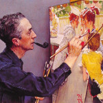 Portrait Norman Rockwell Painting The Soda Jerk