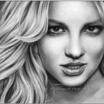 Portraits Famous Women Drawn Pencil Artworks Modern Painting