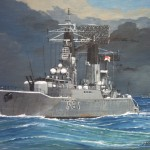 Post Frigate Hms Llandaff Painted For Friend Who Served
