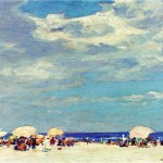 Potthast Paintings Edward Henry Beach Scene Painting