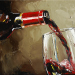 Pouring Wine Painting Victor Bauer Fine Art Prints
