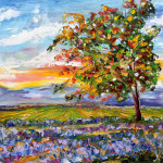Prafulla Art Palette Knife Painting Impressionism Oil