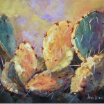 Prickly Pear Cactus Yellow Oil Painting
