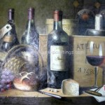 Print Page Bottle Painting Wine Bottles And Cups