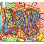 Psychedelic Love Singleton Hippie Art The Aceo Justgivemepeace