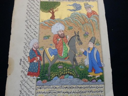 Quality Antique Persian Qajar Islamic Miniature Hand Painting Signed