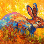 Rabbit Painting Marion Rose Forest Fine Art Prints
