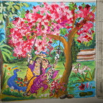 Radha Krishna Painting Canvas Images Crazy Gallery