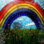 Rainbow Painting Whimsical Fine Art Print