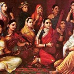 Raja Ravi Varma Painting Shows Indian Women Dressed Regional