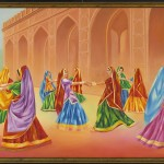 Rajasthani Woman Water Colour Pictures