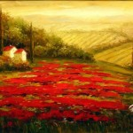 Red Poppies Tuscany Painting Anysize Off
