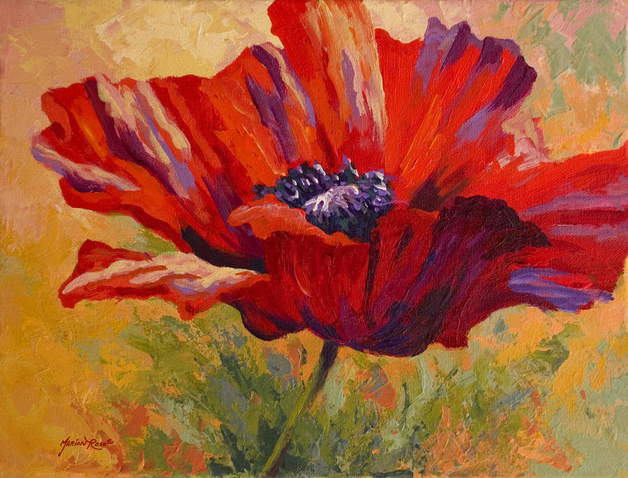 Red Poppy Painting Marion Rose Fine Art Prints