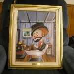 Red Skelton Freddie The Tub Lithograph Painting Instappraisal