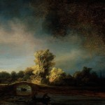 Rembrandt Paintings The Stone Bridge Painting