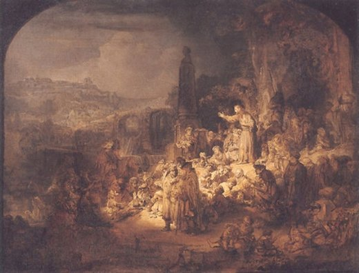 Rembrandt Van Rijn John The Baptist Preaching Paintings For Sale